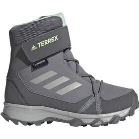 adidas TERREX Snow High Shoes Kinder grey three/grey two/glow green